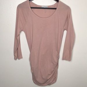 Standard James Perse Pale Pink Ruched Top SzXL